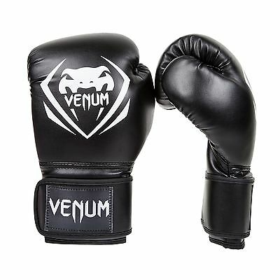 Venum Contender Boxing Gloves Black 14-Ounce New