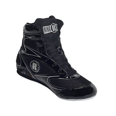 Ringside 3/4 Top Boxing Shoe (Black 8) Black New
