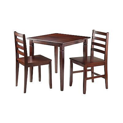 Winsome Wood Kingsgate 3-Piece Dinning Table with 2 Hamilton Ladder Back ... New