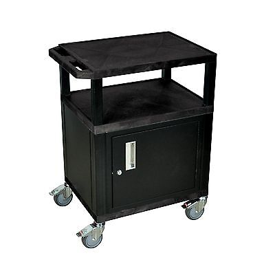 H. Wilson Tuffy Movable Utility Cart With Chrome Casters And Locking Cabi... New