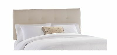 Skyline Furniture Belden King Tufted Headboard Natural Twill New