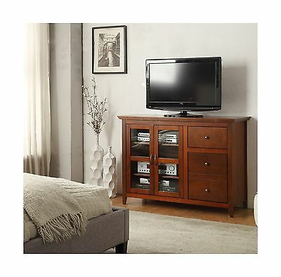 Convenience Concepts R3-150 Sierra Highboy TV Stand Cherry Finish New