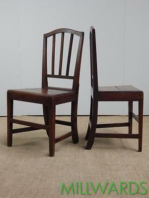 Pair of Early C19th Country Oak Chairs c1820