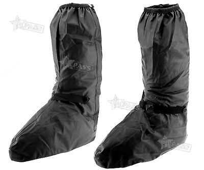 Black Motorcycle Waterproof Shoe Boots Cover Motorbike Cycle Rain Protect XL