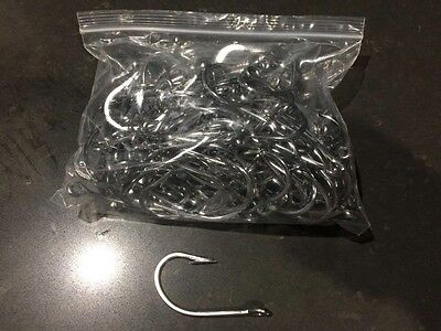 8/0 Stainless Steel Game Fishing Hooks 100 Pack