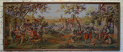An Antique French Framed Tapestry - 182cm x 77cm