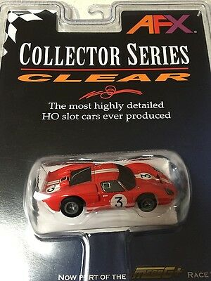 Afx Mega G Plus Collector Series Clear Ford Gt40 #3 Gurney / Grant
