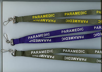 1 x PARAMEDIC Neck Strap Safety Breakaway Lanyard - 3 Colours Available FREE UK