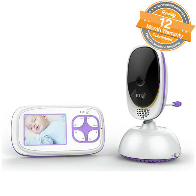 "BT Video Baby Monitor 5000 2.8"" Display up to 250m Range with 5 Lullabies"