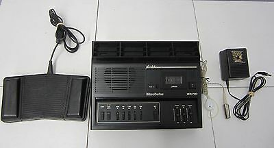 NORELCO MCR-7100 MICROCASSETTE TRANSCRIBER w/ FOOTSWITCH / EARPHONE