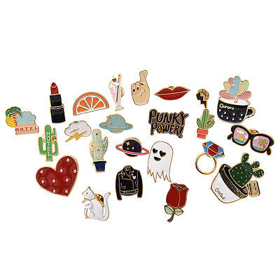 1 Set Women Enamel Brooch Pins Shirt Collar Pins Breastpin  Boutonniere Fashion