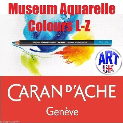 Caran d'Ache MUSEUM AQUARELLE Watercolour Pencils Drawing Sketching Colours L-Z