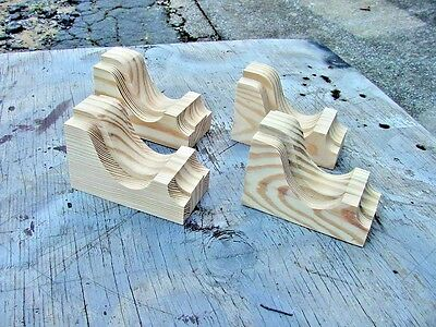 Set of 4 Small Wood Corbels..  Vintage Design..   (SCW # 2504)