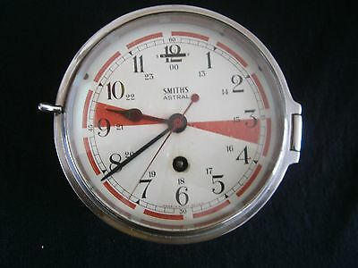 Smiths Astral Maritime Radio Room Brass Clock - 7 Jewel Mechanical Movement
