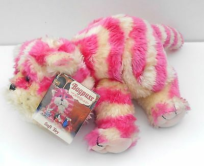 """1999 Bagpuss the Cat - 14"""" Long BAGPUSS - Plush Toy with Store Tag - (B071)"""