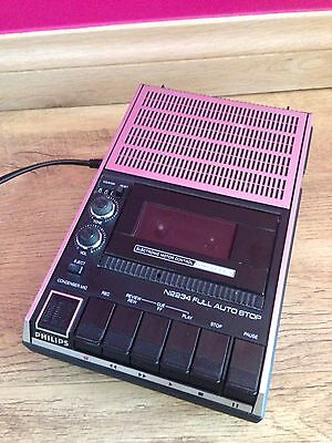 Vintage 1980`s Philips N2234 Automatic Cassette-Recorder/ Player ATTENTION REQD