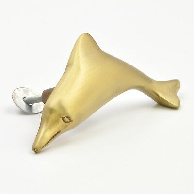 Metal Brass Kids Dolphin Fish Knob, Pull, Handle for Cupboard Drawer & Furniture