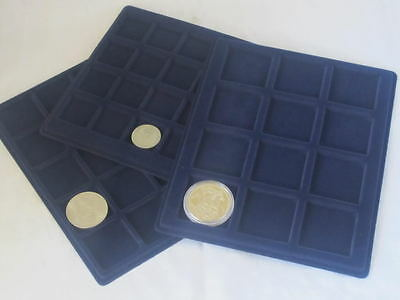 EXTRA 334mm x 220mm TRAY LARGE ALUMINIUM COIN CASES -22mm, 33mm, 39mm, 45m, 66mm