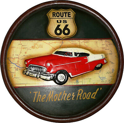 Route 66 Holzschild Wanddekoration