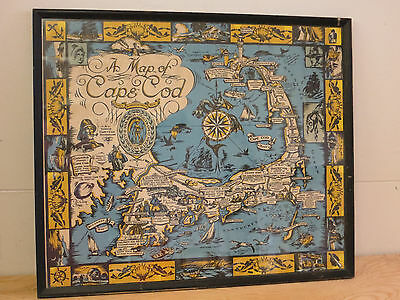 Vintage 1930s Map of Cape Cod Published by Town Crier Shop - Provincetown, MA