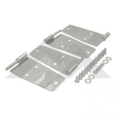 Crown RT34008 - Full Door Hinge Set in Stainless Steel for 76-93 CJ7/Wrangler YJ
