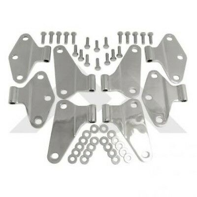 Crown RT34069 - 8pc Door Hinge Set for Jeep JK