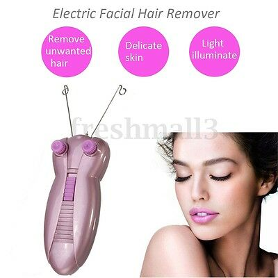 Electric Electronic Eyebrow Threading Epilator Face Body Threader Hair Remover