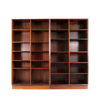 1 of 2 Retro Vintage Danish Rosewood Bookcase Book Shelves Cabinet 50s 60s 70s