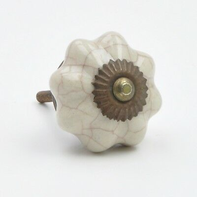 Brown Crackled Cracked Ceramic Knob, Pull, Handle, for Cupboards, Doors, Cabinet