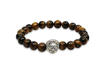 Beautiful Tiger's Eye Bracelet - Authentic 8MM Gems With Elastic Banding