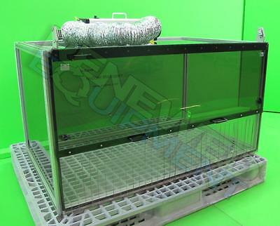 SciGene NoZone Framed Poly Bench Top Enclosure Workspace with Scrubber