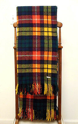 Vintage Wool Heavy Weight Multi-Color Fringed English Stadium Throw