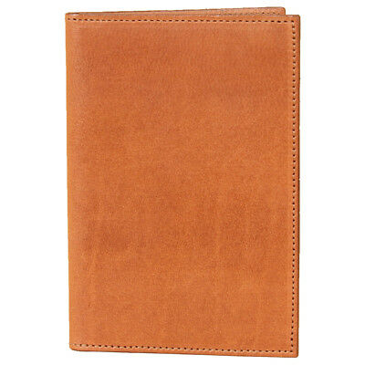 Leather Pocket Journal Refillable Ruled Composition Notebook Saddle Tan USA No23