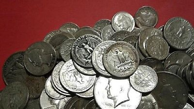 MAKE OFFER 1 Standard Ounce 90% Silver Junk Coins 1 Half Dollar Included