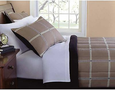 Mainstays Plaid Bed In A Bag Complete Bedding Set Queen