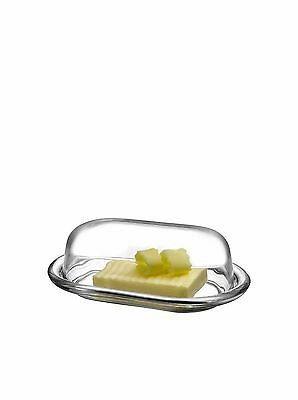 Style Setter Soho Glass Butter Dish Clear New