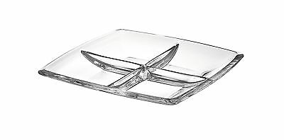 "Majestic Gifts AE63236 European High Quality Glass Square Relish Dish 11"" New"