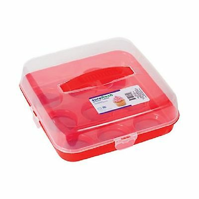 Sure Fresh Plastic Cupcake Carriers with Handles New