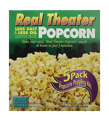 Wabash Valley Farms Popcorn - Real Theater - Less Salt/Less Oil - 5 pack New