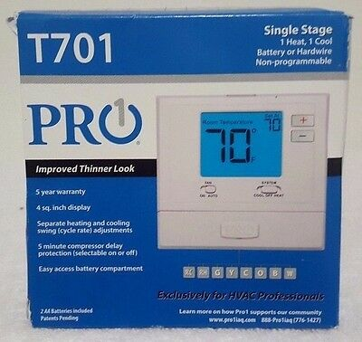 Pro T701 Non-programmable Thermostats