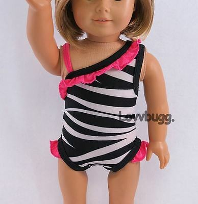 "Zebra Swim Suit for American Girl 15"" 18"" Doll Clothes frm that Trusted Lovvbugg"