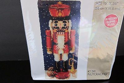 Bouquet Latch Hook Kit Christmas Nutcracker KT 241 Holiday 15x36 Holiday NEW