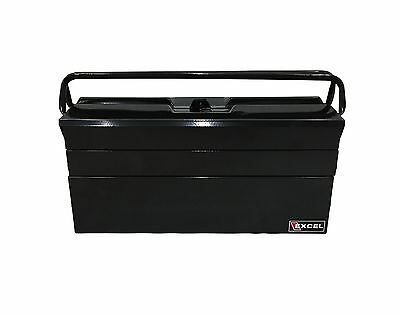 Excel International 19-Inch Cantilever Steel Tool Box Black New