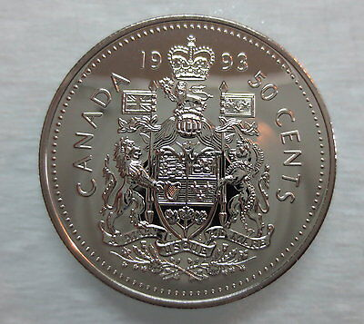 1993 Canada 50 Cents Proof-Like Half Dollar Coin