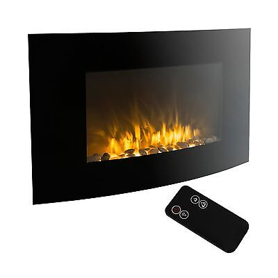 XtremepowerUS Wall Mount Electrical Fireplace Insert Embedded With Realis... New