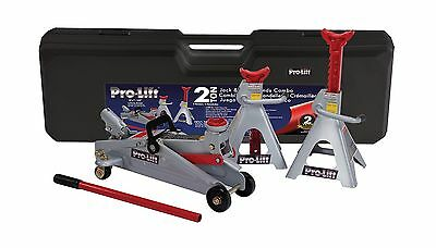 Pro-Lift F-2330BMC Grey Floor Jack and Stand Combo New