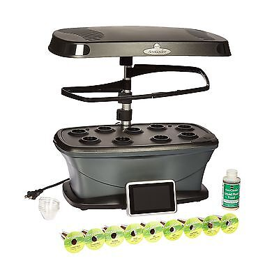 Miracle-Gro AeroGarden Bounty Wi-Fi with Gourmet Herb Seed Pod Kit Matte ... New