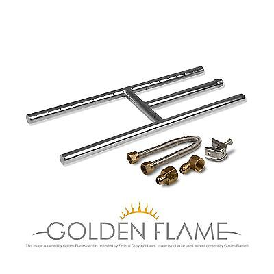 "18"" x 6"" (Natural Gas) Fire Pit and Fireplace H-Burner (304 Series SS) w/... New"