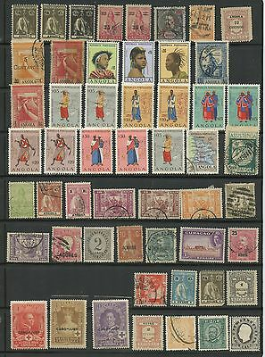 PORTUGUESE COLONIES--Accumulation of 86 stamps from various colonies