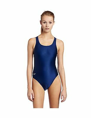 Speedo Race Xtra Life Lycra Solid Super Pro Swimsuit Navy 32 New